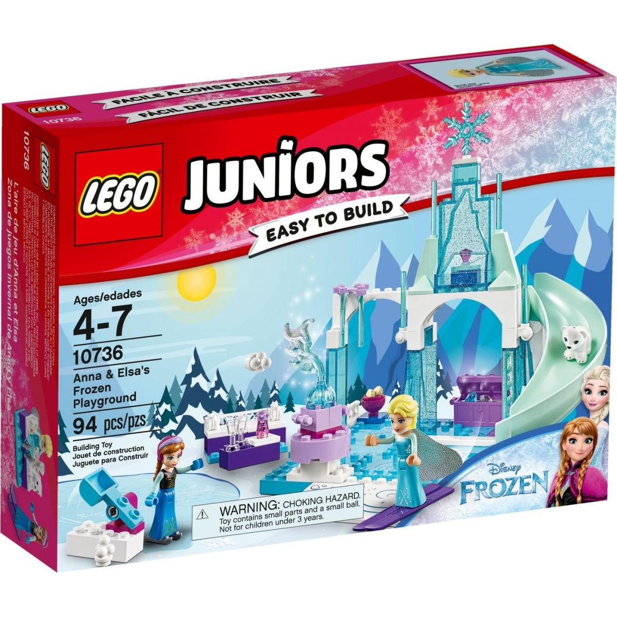 LEGO Juniors 10736 Ľadové ihrisko pre Annu a Elsu