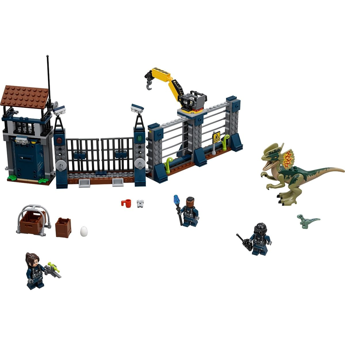 LEGO Jurassic World 75931 Útok Dilophosaura na strážne stanovisko