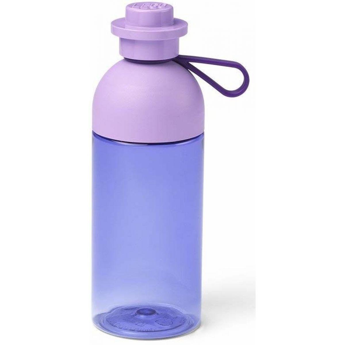 LEGO fľaša  transparentná fialová