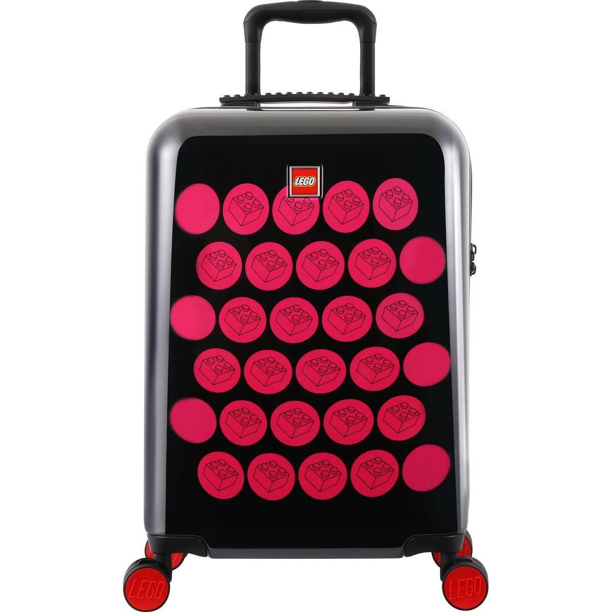 LEGO Luggage ColourBox Brick Dots 20 Čierny Růžový
