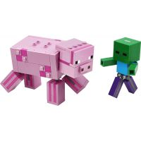 LEGO Minecraft 21157 Veľká figúrka: Prasa a malé zombie