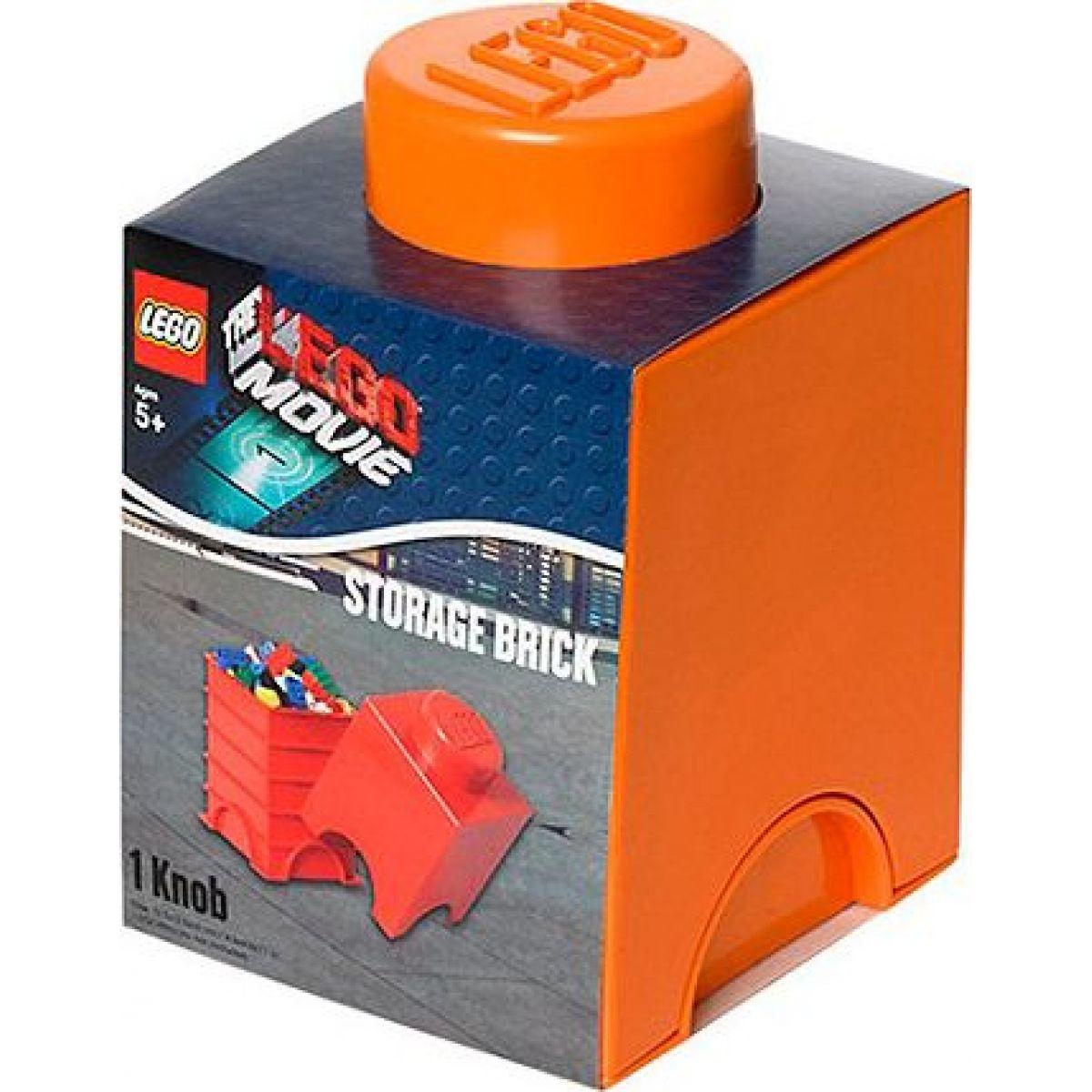 LEGO Movie Úložný box 12,5 x 12,5 x 18 cm Oranžová