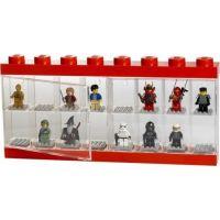LEGO Zberateľská skrinka na 16 minifigúrok červená 2