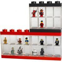 LEGO Zberateľská skrinka na 16 minifigúrok červená 4