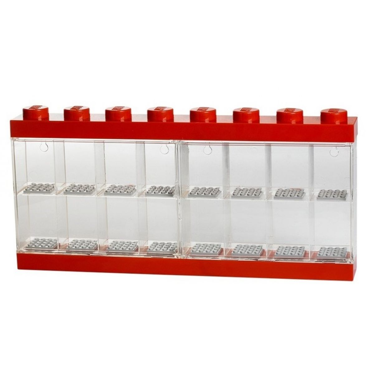 LEGO Zberateľská skrinka na 16 minifigúrok červená
