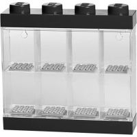 LEGO zberateľská skrinka na 8 minifigúrok - čierna