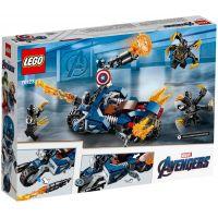 LEGO Super Heroes 76123 Captain America: Útok Outriderov 4
