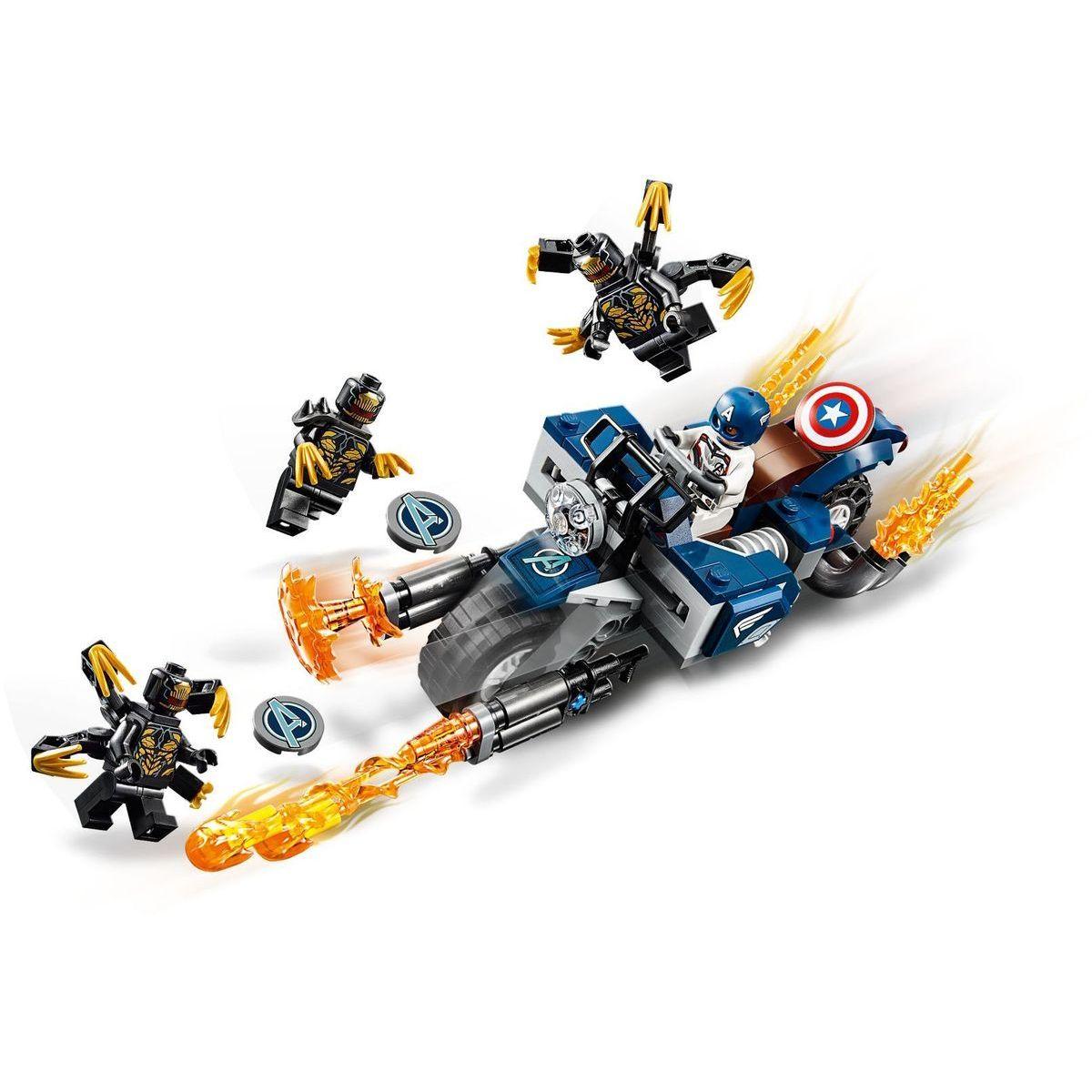LEGO Super Heroes 76123 Captain America: Útok Outriderov