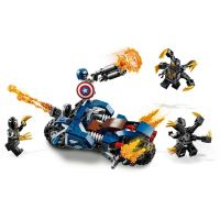 LEGO Super Heroes 76123 Captain America: Útok Outriderov 3