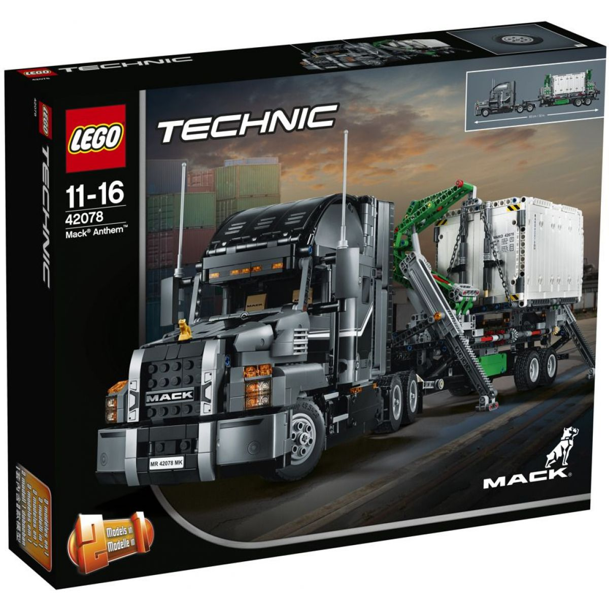 LEGO Technic 42078 Mack nákladiak