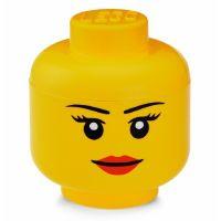 LEGO úložná hlava (velikost L) - dievča