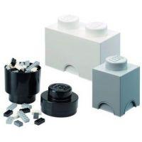 LEGO úložné boxy Multi-Pack 3 ks čierna, biela, šedá