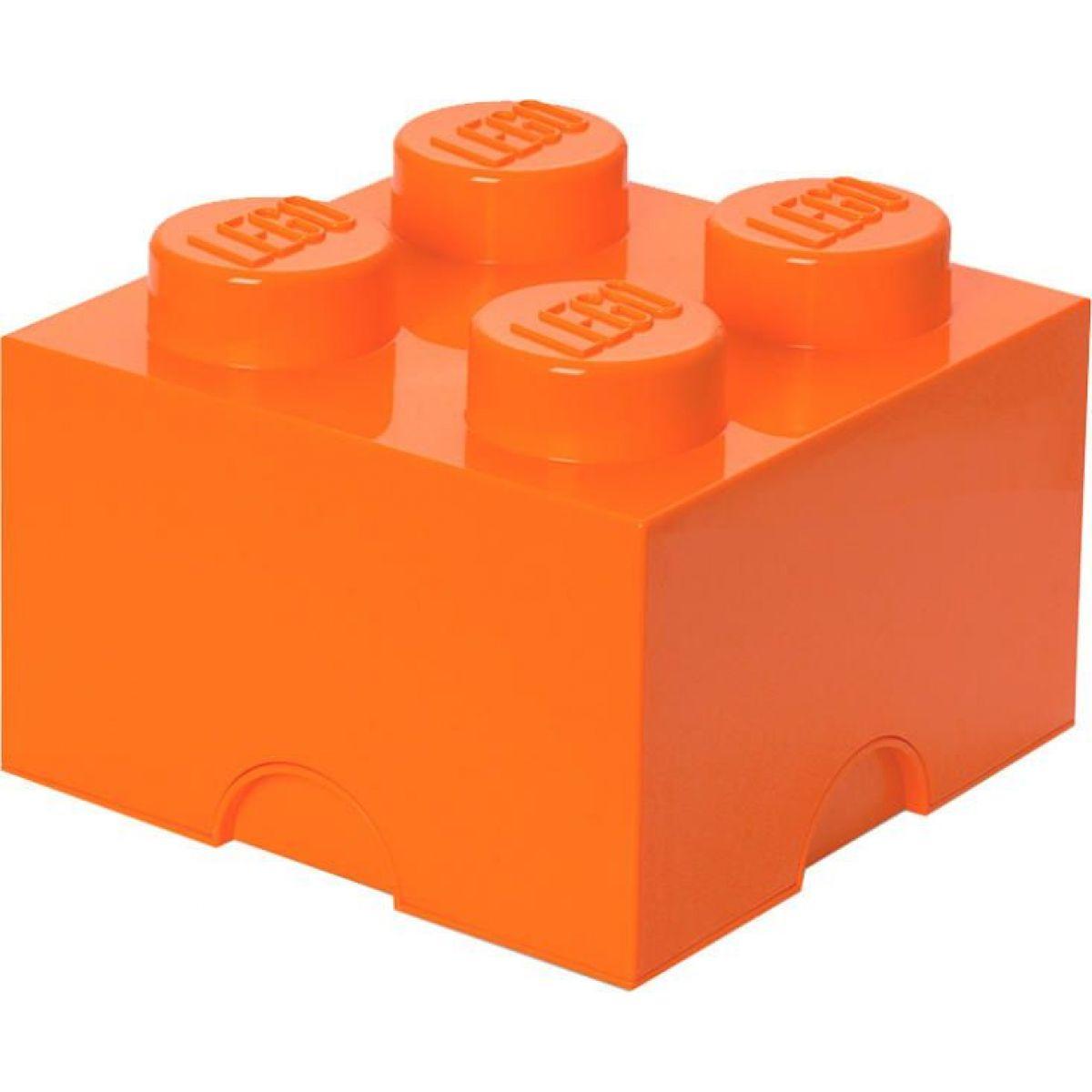 LEGO Úložný box 25 x 25 x 18 cm - oranžová