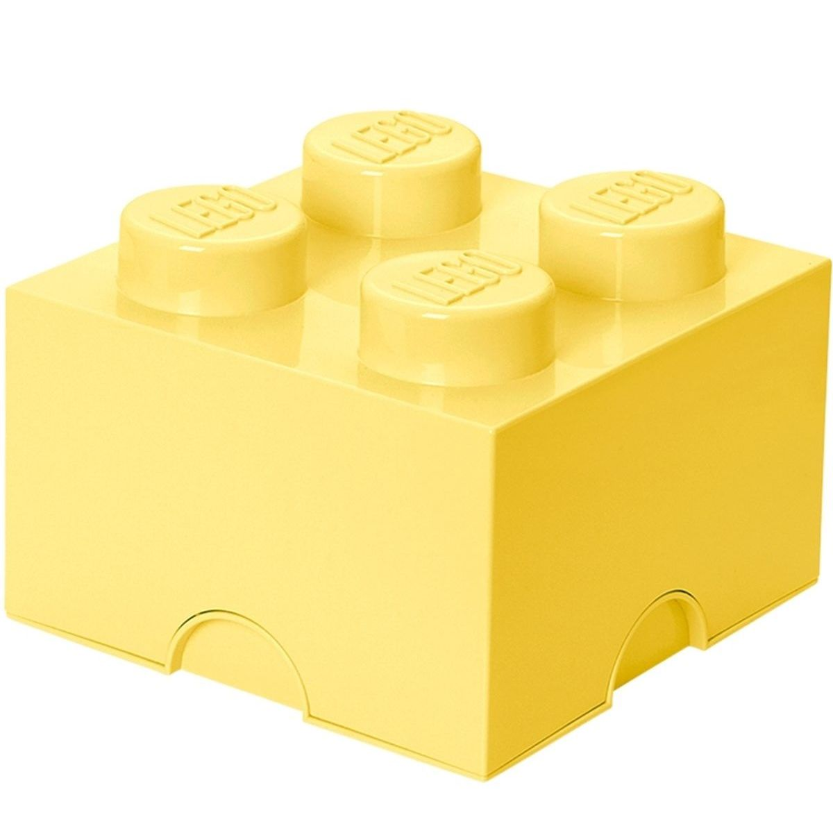 LEGO úložný box 25 x 25 x 18 cm svetložltá
