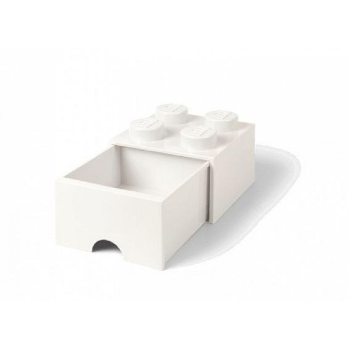 LEGO úložný box 4 so šuplíkom biela - Poškodený obal