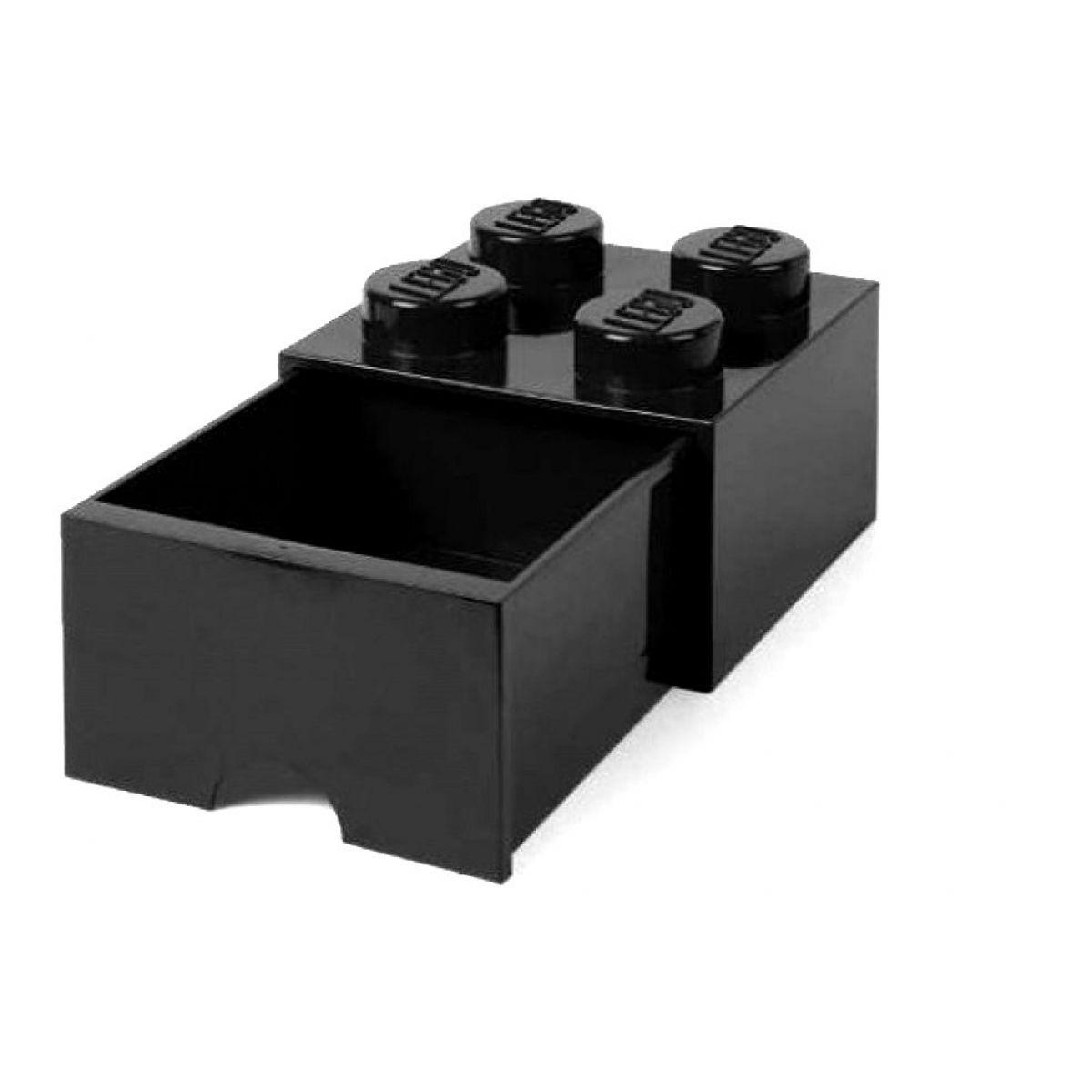 LEGO úložný box 4 so šuplíkom čierna