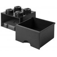 LEGO úložný box 4 so šuplíkom čierna 2