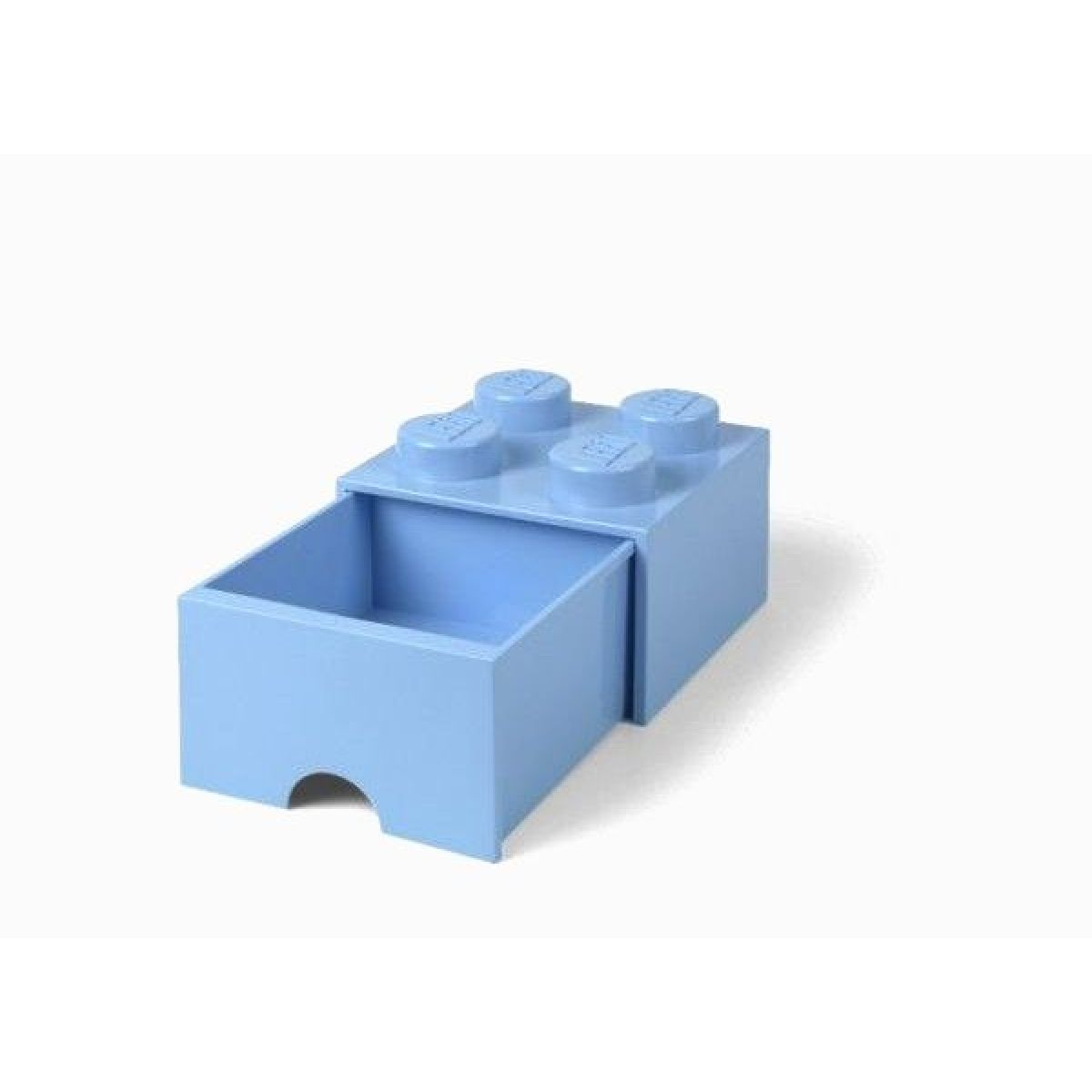 LEGO Úložný box 4 sa zásuvkou Svetlo modrá