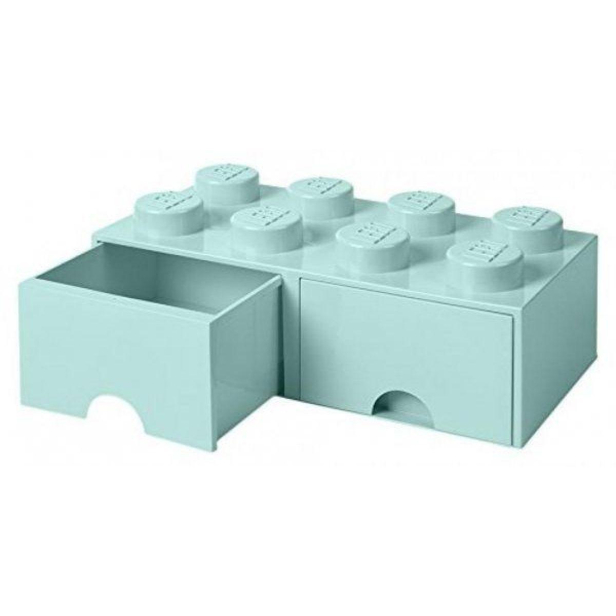 LEGO úložný box 8 so šuplíkmi aqua