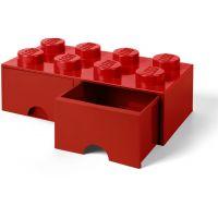 LEGO Úložný box 8 se šuplíky Červená