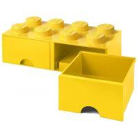 LEGO Úložný box 8 so šuplíky - žltá - Poškodený obal