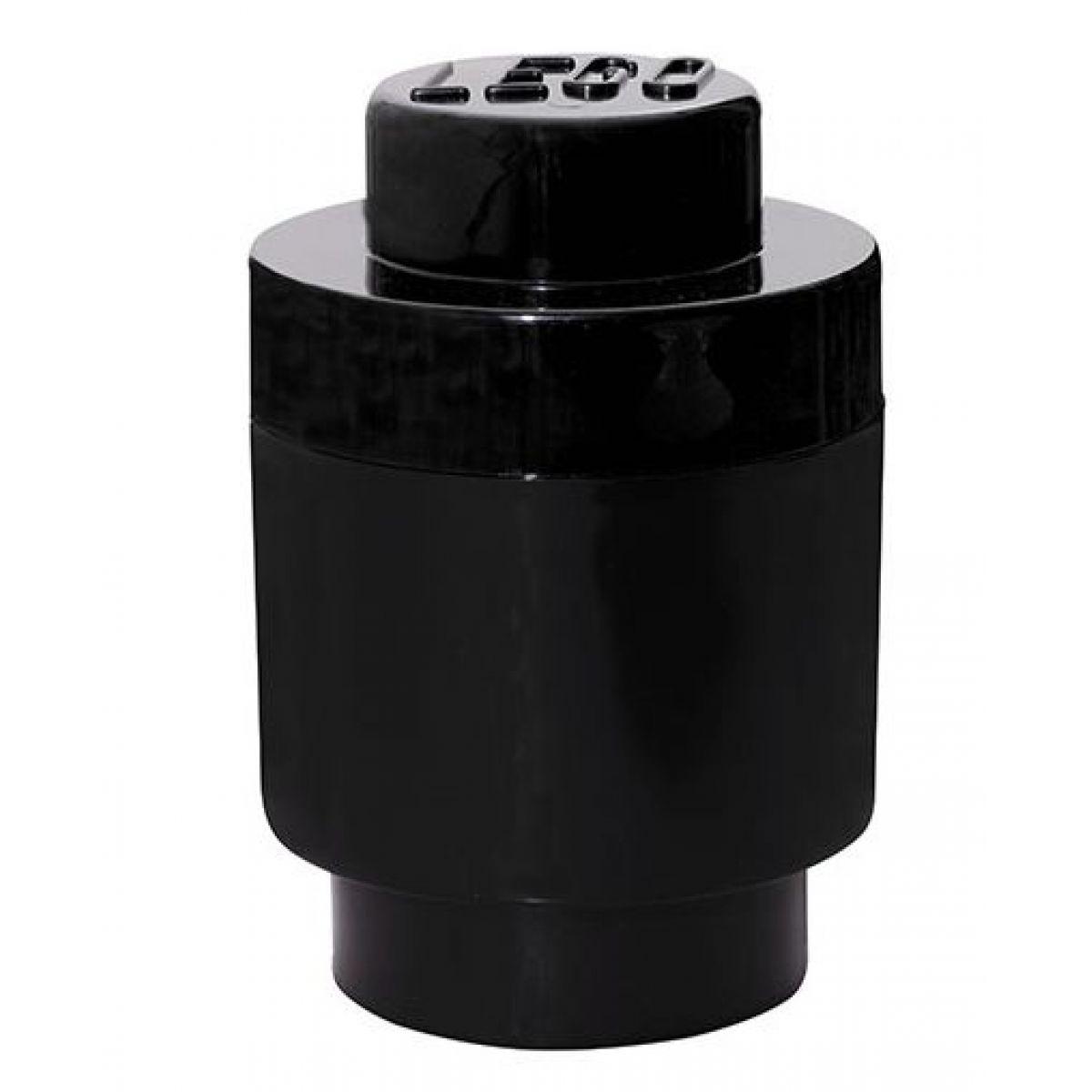 LEGO úložný box guľatý 12,3 x 18,3 cm čierna
