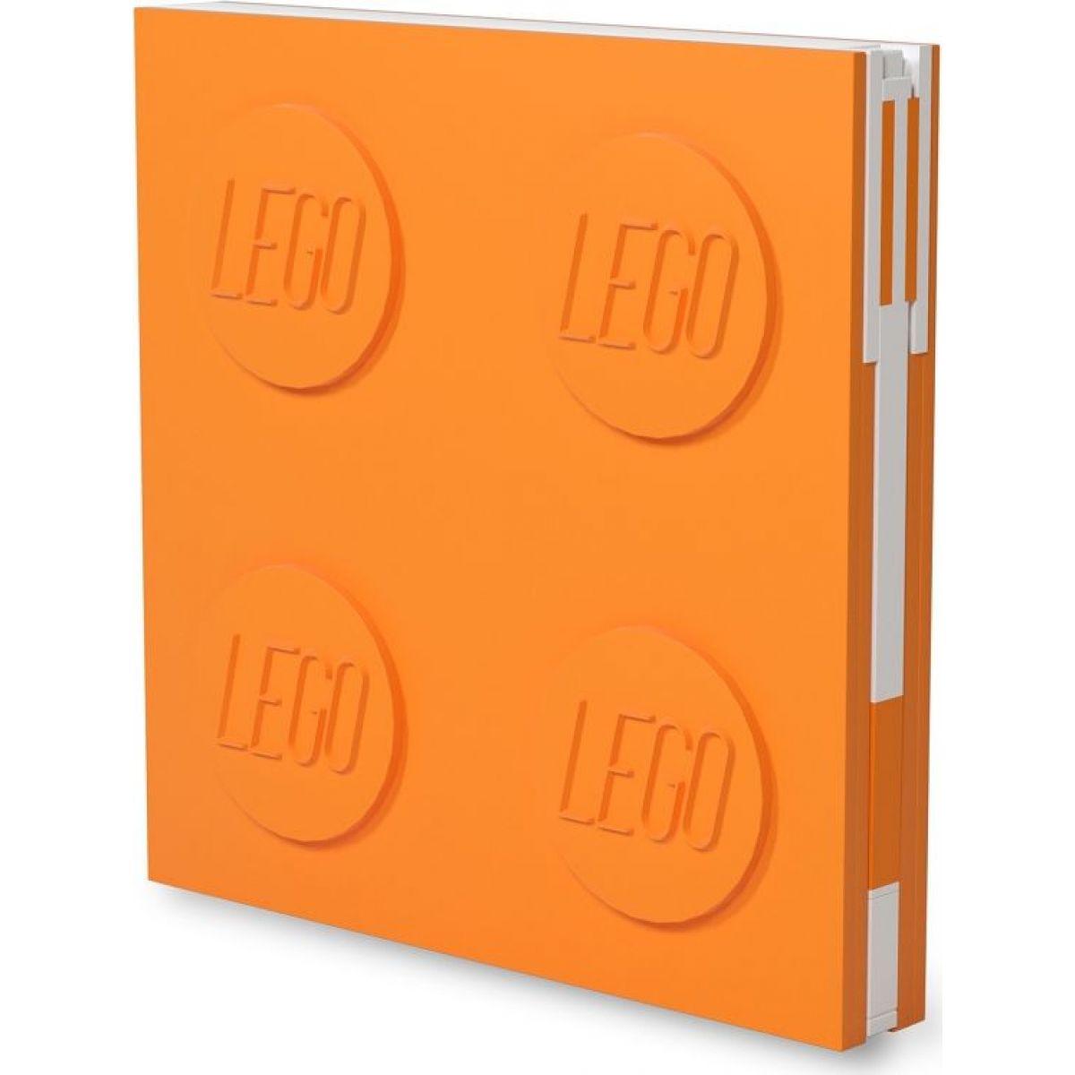 LEGO® 2.0 Zápisník s gélovým perom ako klipom - oranžový