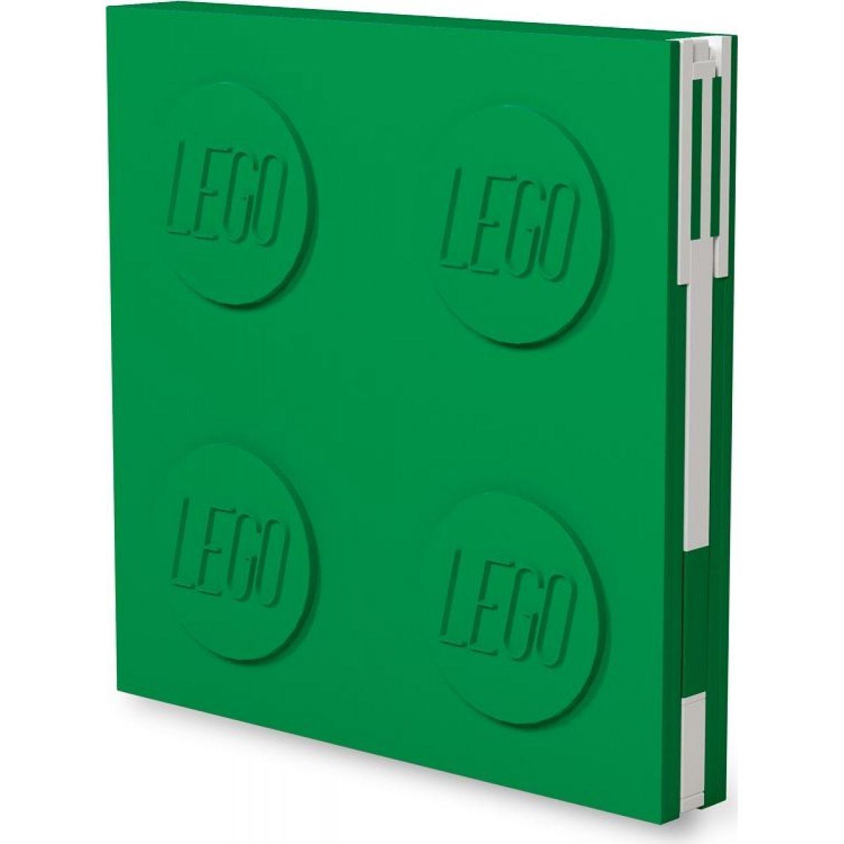 LEGO® 2.0 Zápisník s gélovým perom ako klipom - zelený