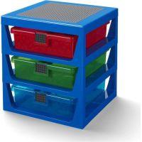 LEGO® organizér s tromi zásuvkami - modrá