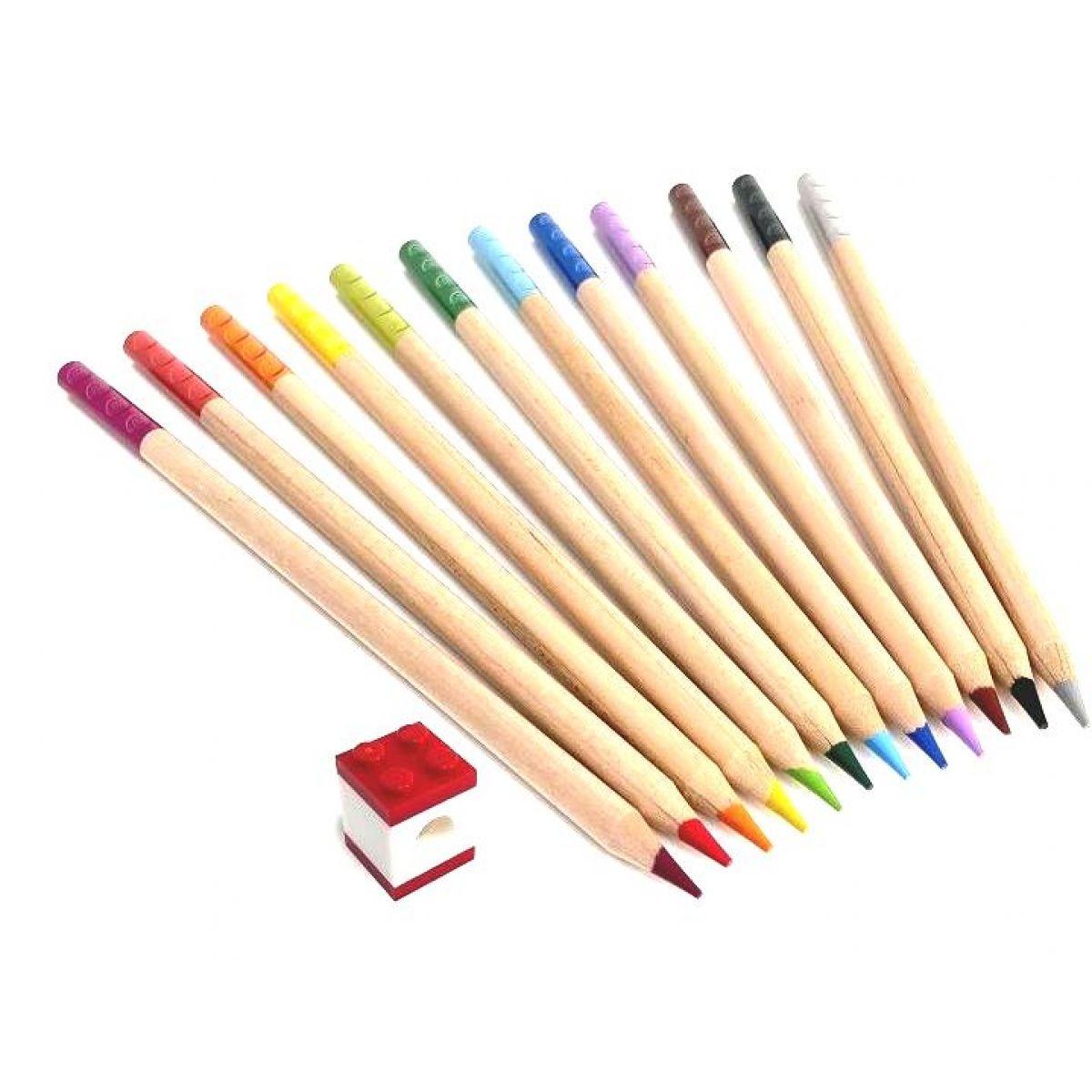 LEGO® Pastelky mix farieb 12 ks s LEGO® klipom