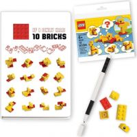 LEGO® Stationery Classic Kachny zápisník s perem a stavebnicí