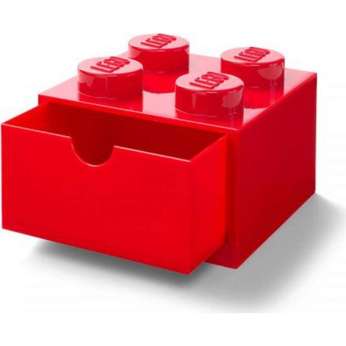 LEGO® úložný box 4 so zásuvkami - červená