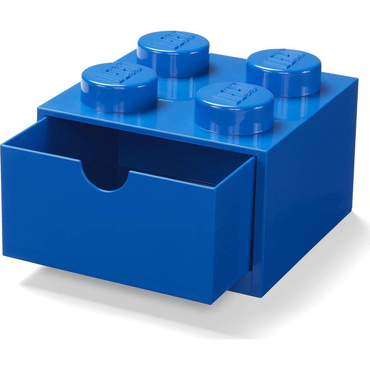 LEGO® stolný box 4 so zásuvkou - modrá