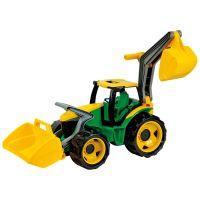 LENA 02080 - Traktor s lyžicou a bagrom zelenožltý