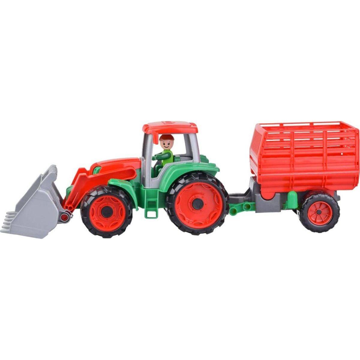 Lena Truxx Traktor s prívesom na seno s ozdobným kartónom