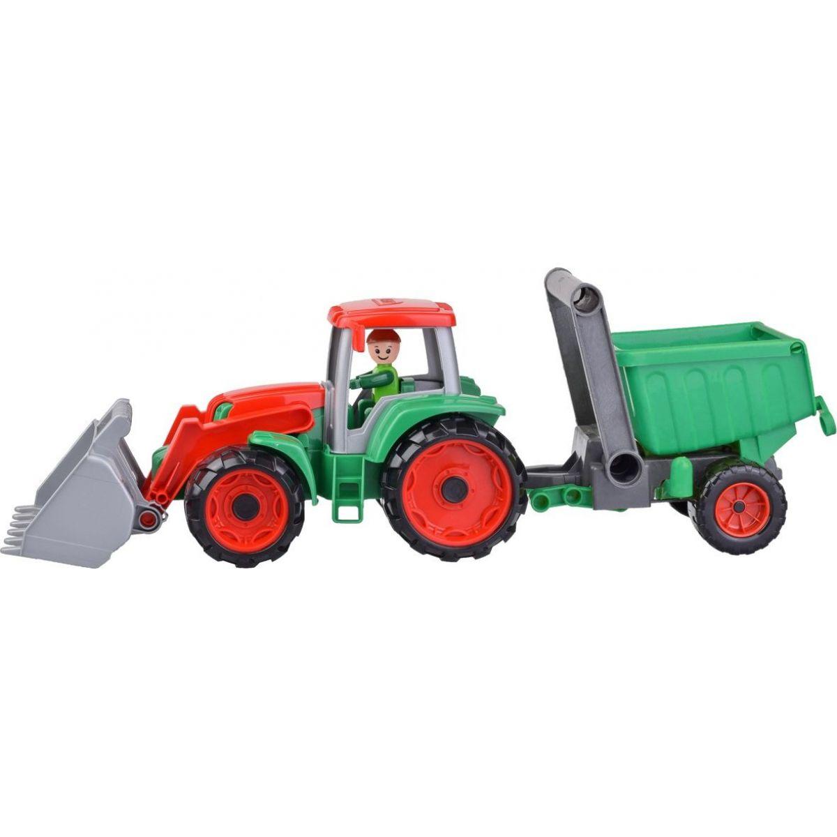 Lena Truxx Traktor s prívesom s ozdobným kartónom