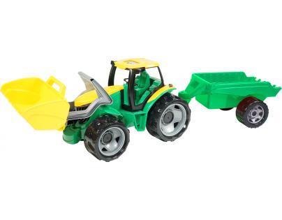 LENA Traktor s lyžicou a prívesom 110 cm