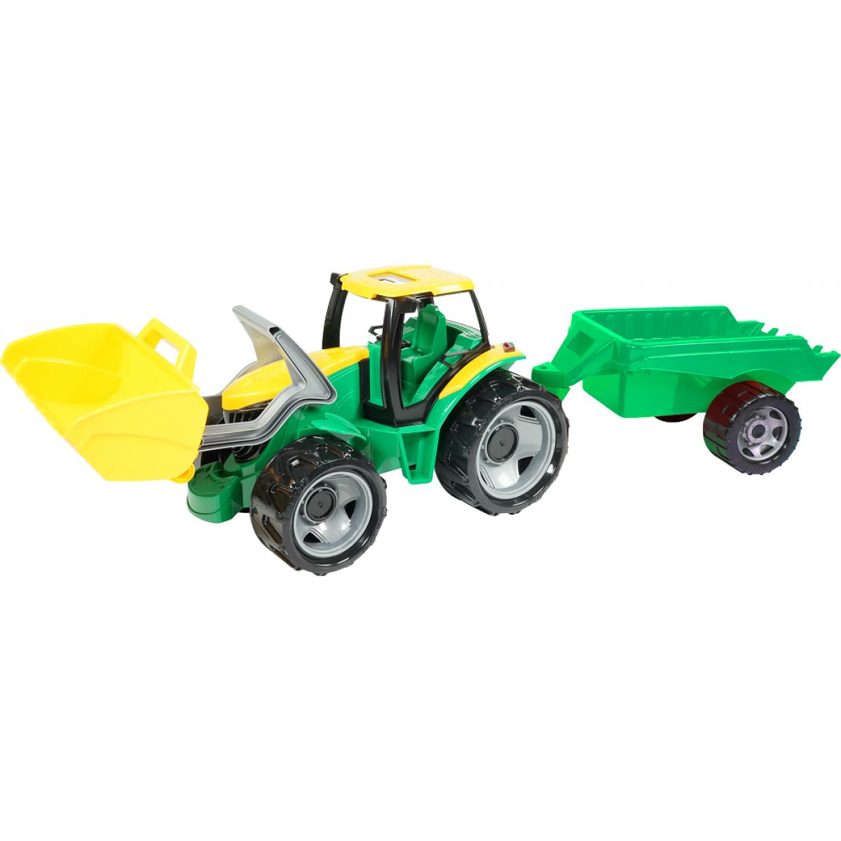 Lena Veľký traktor s lyžicou a prívesom 110 cm