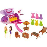 Lietadlo plastové s bábikami, oblečky as plážovým setom