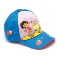 Letní kšiltovka Dora růžovo-modrá vel.52
