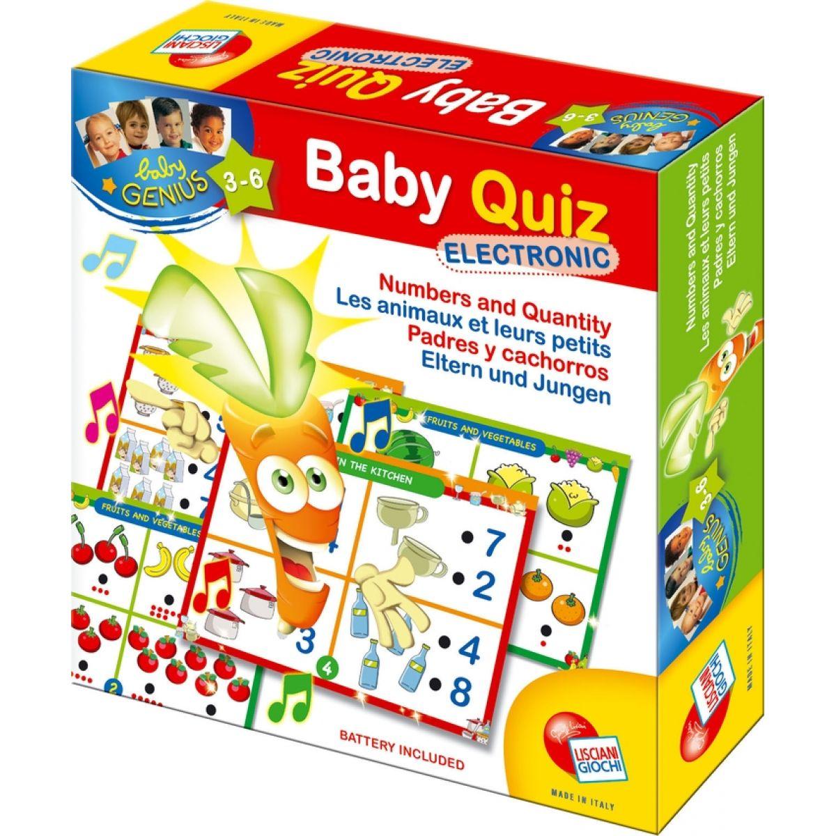 Baby Genius Elektro kvíz Logika tvary a farby