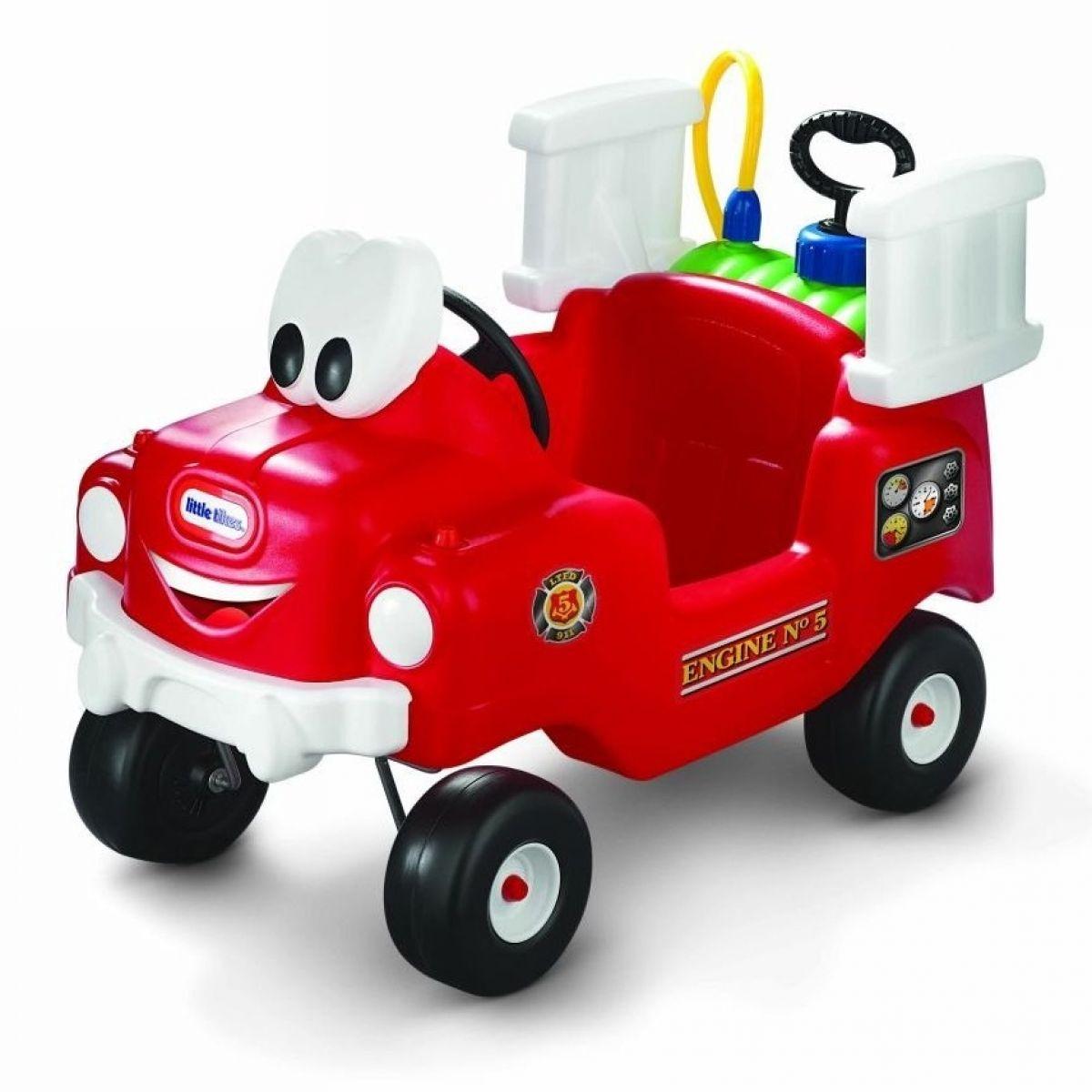Little Tikes 616129 - Odrážadlo hasičské auto s funkčnou striekačkou