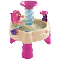 Little Tikes Špirálovitý vodný stôl ružový