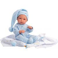 Llorens bábika New Born chlapček v modrej čiapke