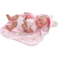 Llorens bábika Nica v ružovom kabátiku 38 cm