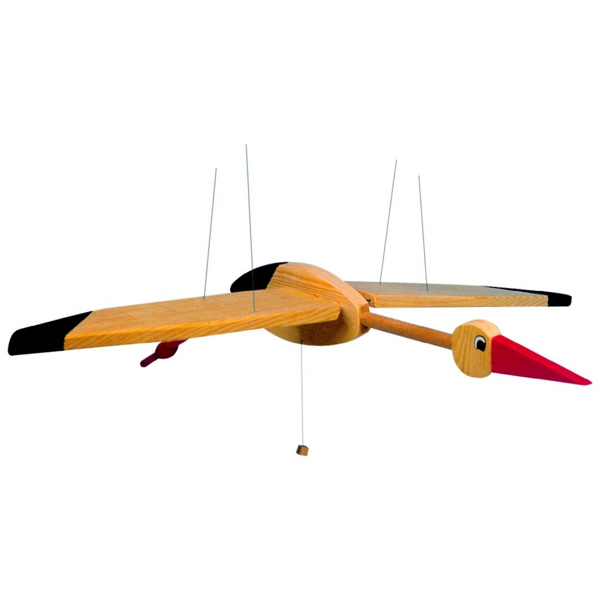 Woody Létací bocian 90 cm drevený