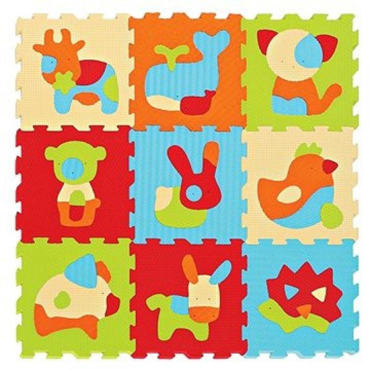 Ludi Puzzle penové 90x90 cm Zvieratká