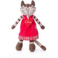 Lumpini Mačka Angelique v jahodových šatách strednej 23 cm