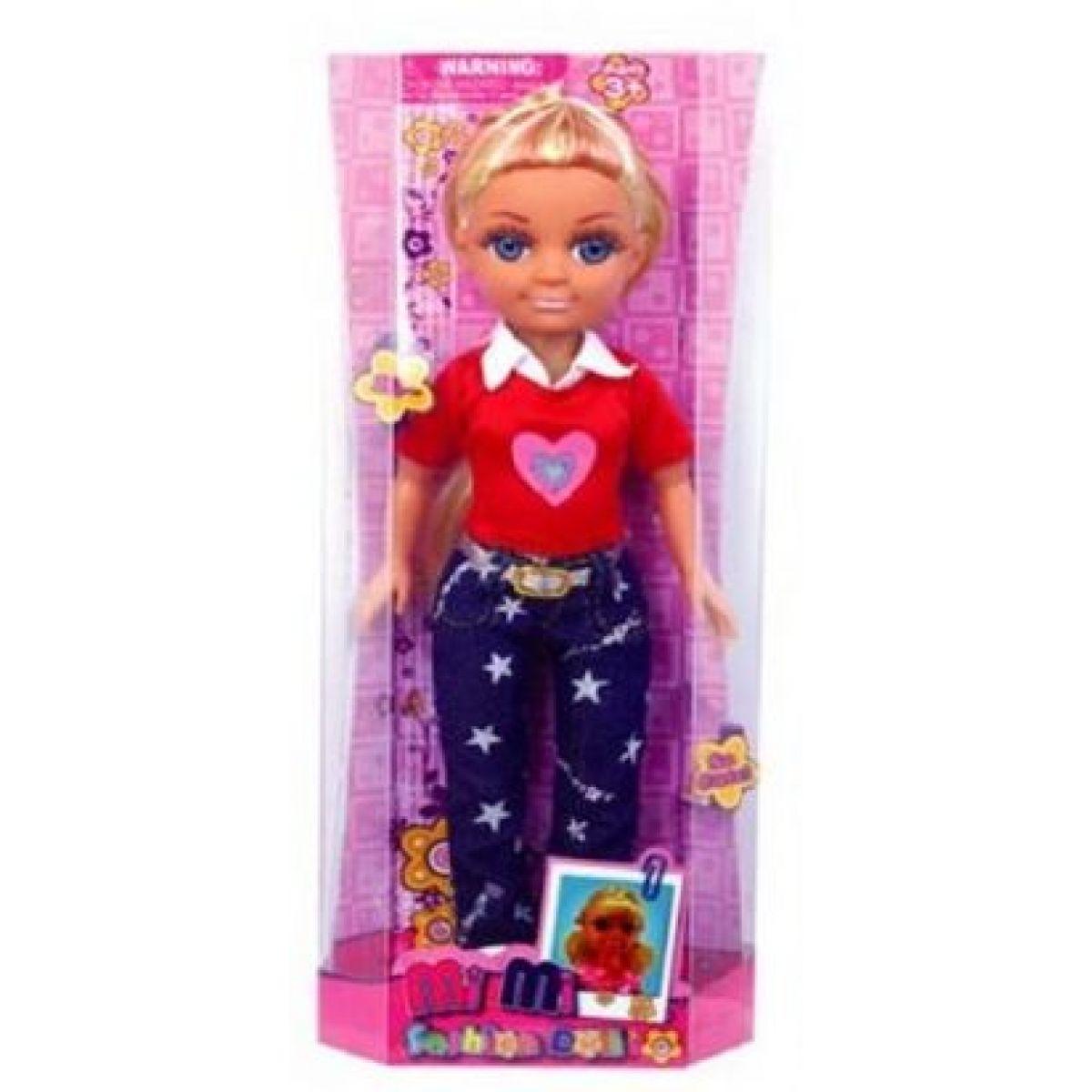 Mac Toys Panenka a módní doplňky Růžové triko a jeansy