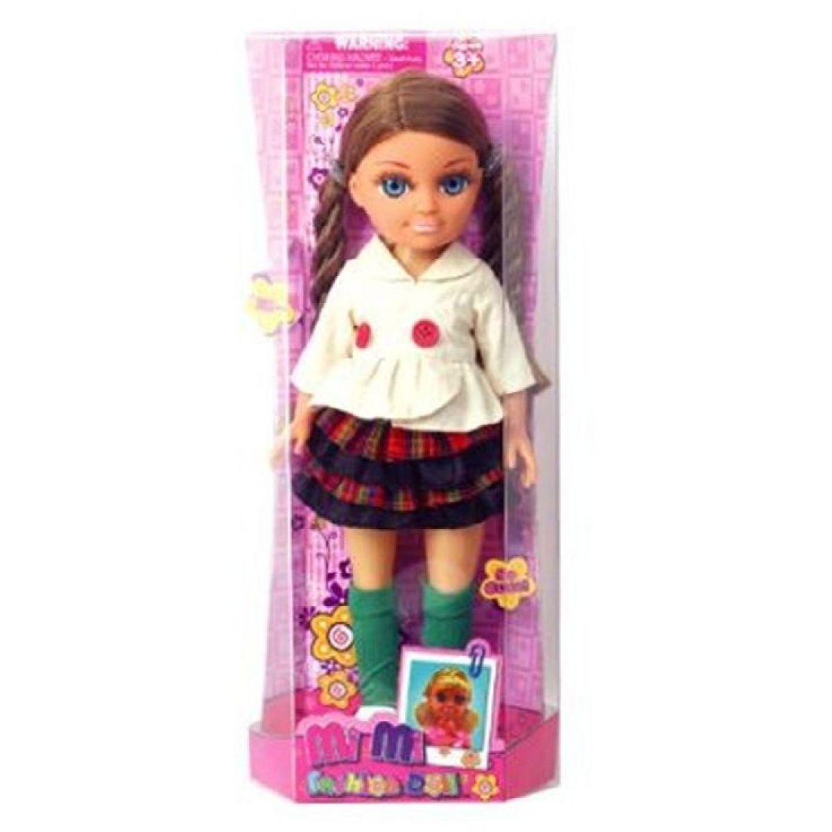 Mac Toys Bábika s módnymi doplnkami Károvaná sukňa